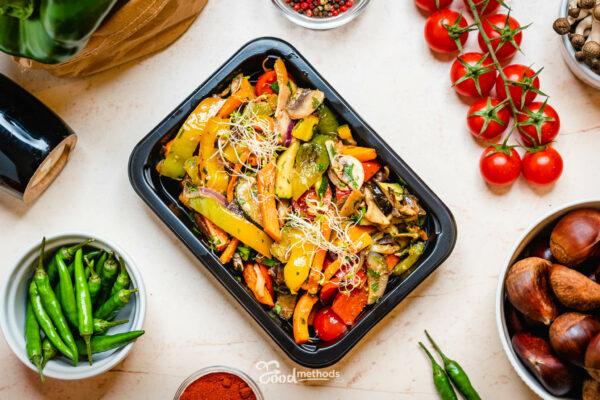 Grill zöldség dobozban