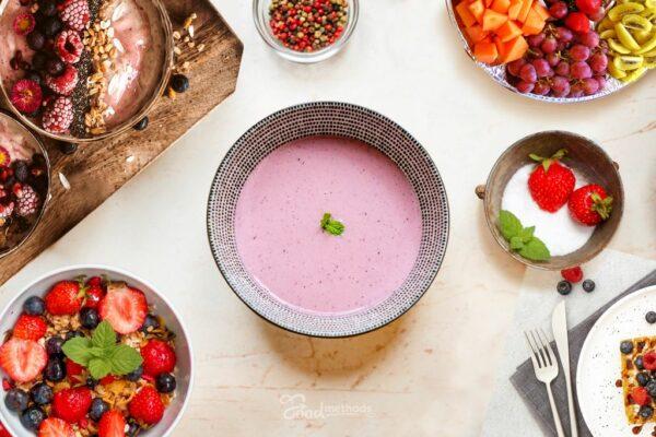 Erdei gyümölcs leves