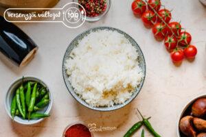 Versenyzői Jázmin rizs tányéron