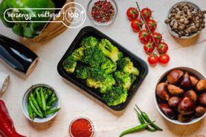 Versenyzői Párolt brokkoli dobozban