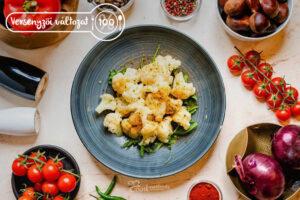 Versenyzői Párolt karfiol tányéron