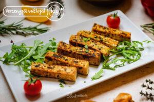 Versenyzői Tofu tányéron